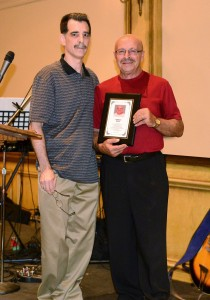 (L to R) Loris Sanson (ICHA 1st Vice-President) and Tommaso Madia (ICHA Wall of Fame Recipient)