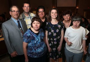 Peter Novelletto, left, Colin Hayes, Erica Crumb, Michelle Muzslai, Meghan Larking, Santina Ferrera (past president) and Jan Woytiuk attended the Italian Canadian Handicapable Association fundraising gala on Friday, July 15, 2016, at the Ciociaro Club in Windsor. (Dan Janisse / The Windsor Star)