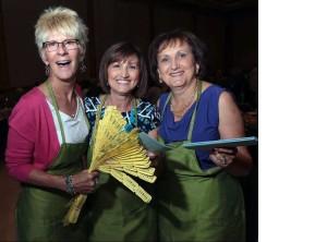 Marguerite Reid, left, Rita Olivito and Elvira Panaccione sell 50/50 raffles tickets at the Italian Canadian Handicapable Association fundraising gala on Friday, July 15, 2016, at the Ciociaro Club in Windsor. (Dan Janisse / The Windsor Star)